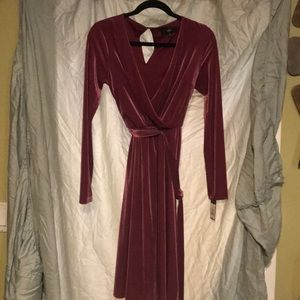 Mossimo pink corduroy like dress shimmer belt XS